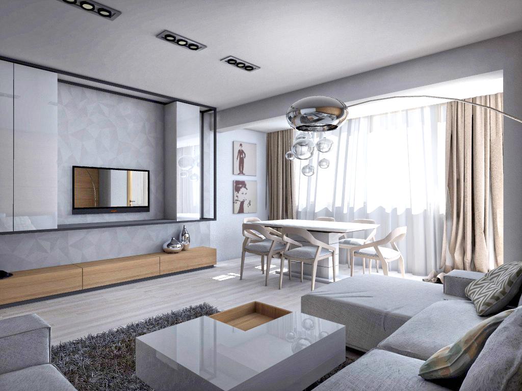 Living modern mobila living for Idee per arredare un salone